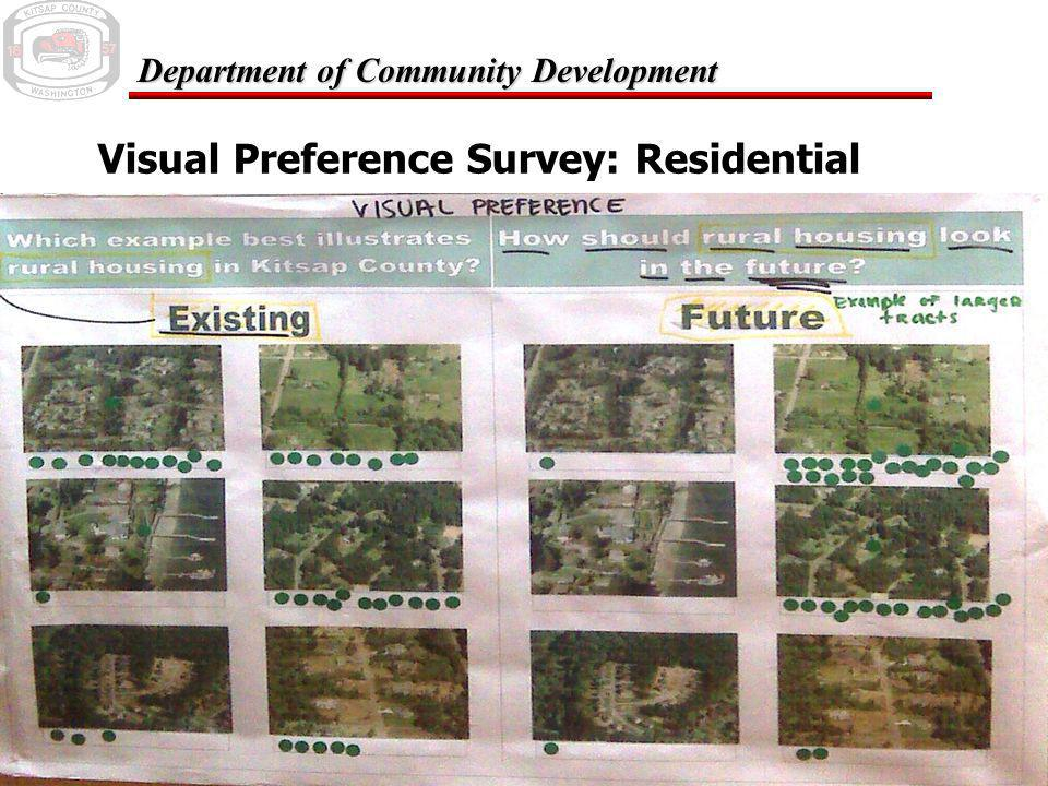 February 24, 2006 Department of Community Development Visual Preference Survey: Residential