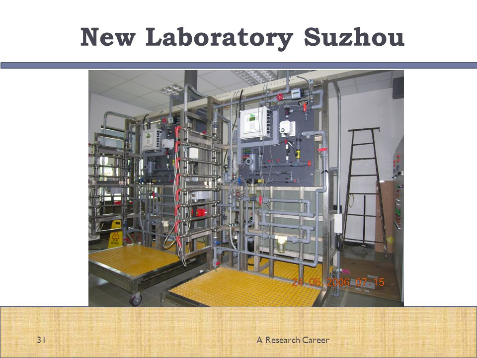 New Laboratory Suzhou 31A Research Career