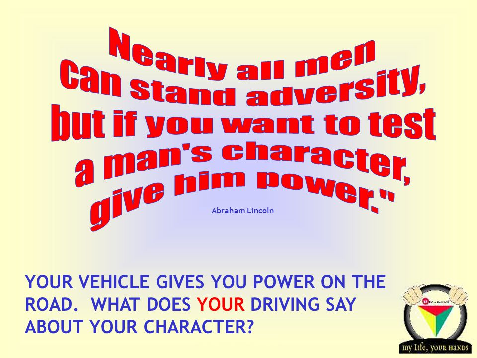 Transportation Tuesday YOUR VEHICLE GIVES YOU POWER ON THE ROAD.