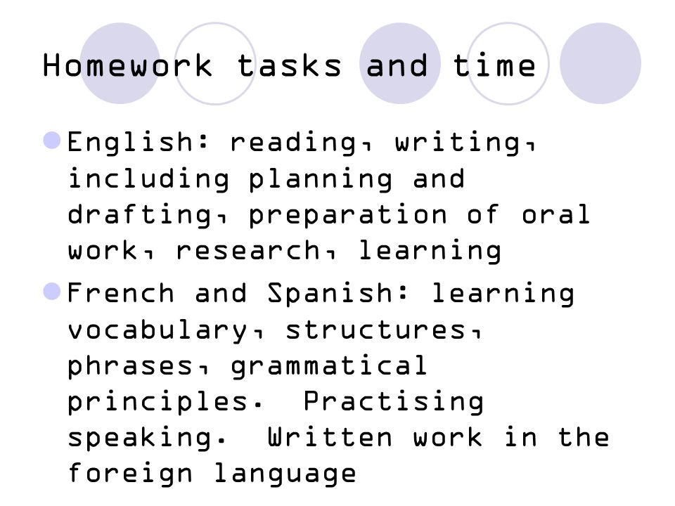 Expectations Between 60 – 90 minutes for homework set for each subject Constant reading of a range of texts Emphasis on mechanics of language and reading, writing, speaking and listening in all subjects Oracy is a central feature of all subjects Understanding happens through sharing ideas and talking
