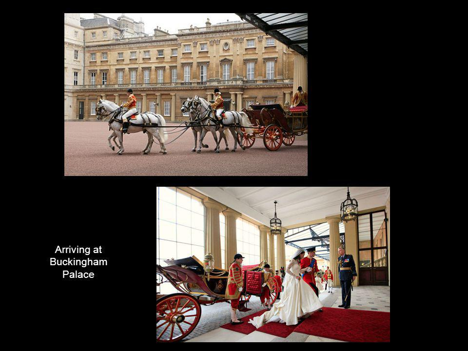 Arriving at Buckingham Palace