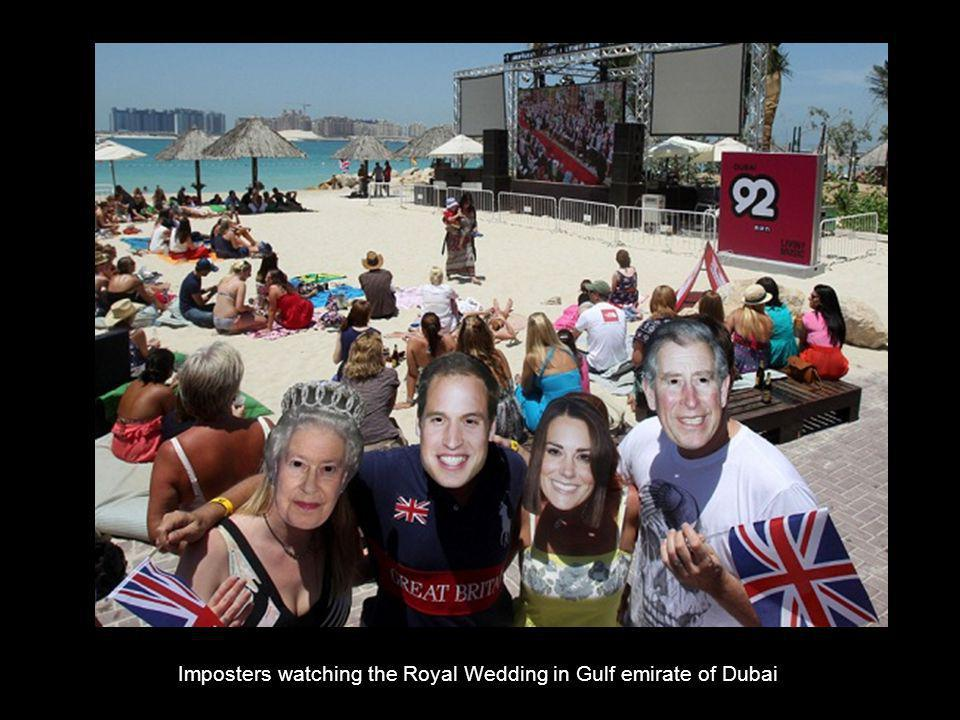 Imposters watching the Royal Wedding in Gulf emirate of Dubai