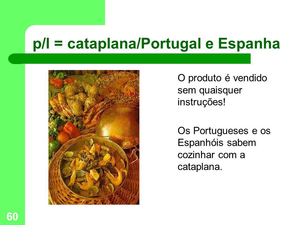 60 p/l = cataplana/Portugal e Espanha O produto é vendido sem quaisquer instruções.
