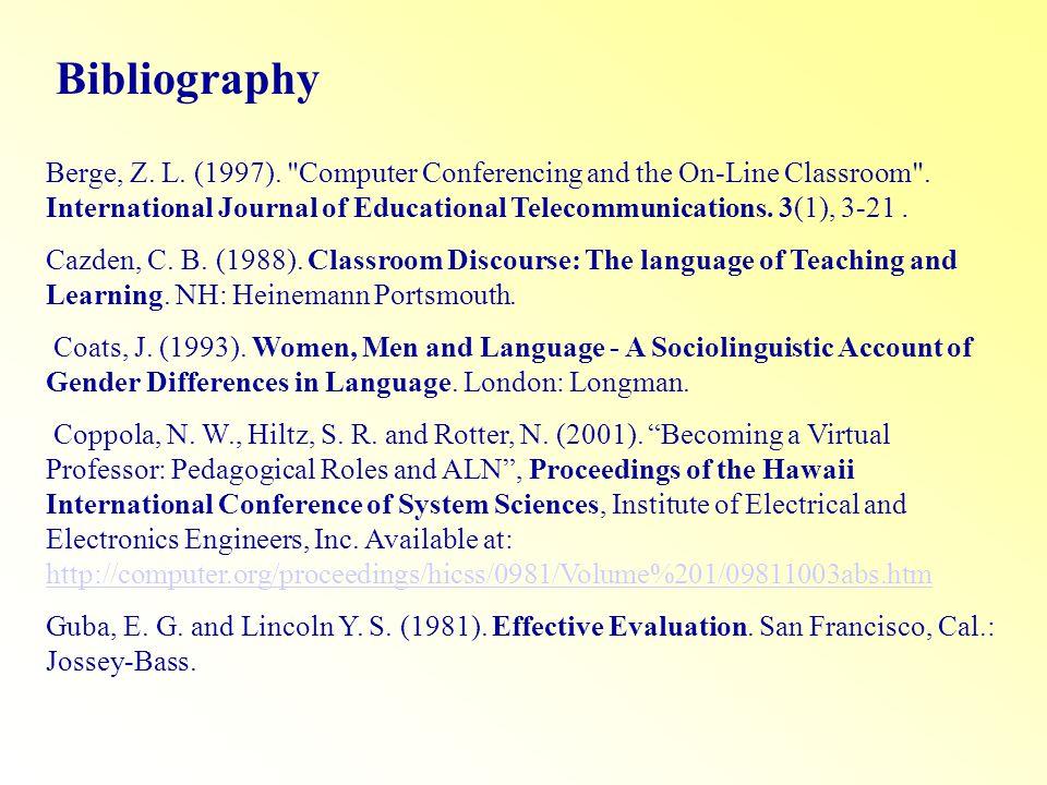 Bibliography Berge, Z. L. (1997).