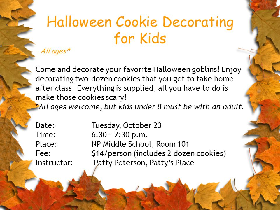 Come and decorate your favorite Halloween goblins.