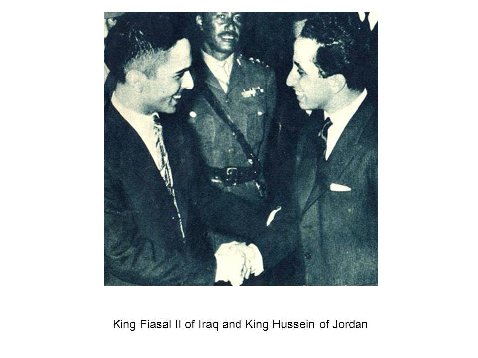King Fiasal II of Iraq and King Hussein of Jordan