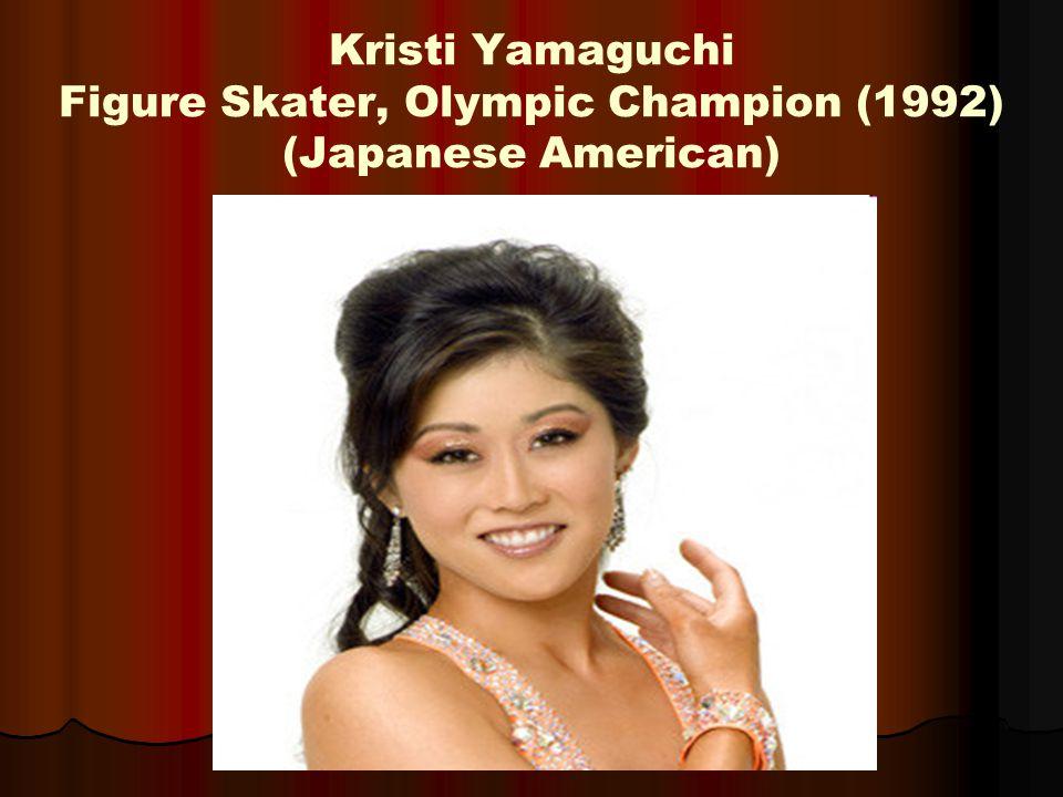 Kristi Yamaguchi Figure Skater, Olympic Champion (1992) (Japanese American)