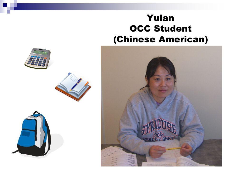 Yulan OCC Student (Chinese American)