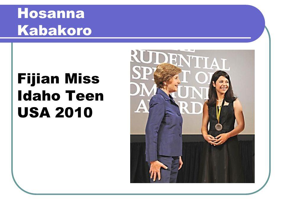 Hosanna Kabakoro Fijian Miss Idaho Teen USA 2010