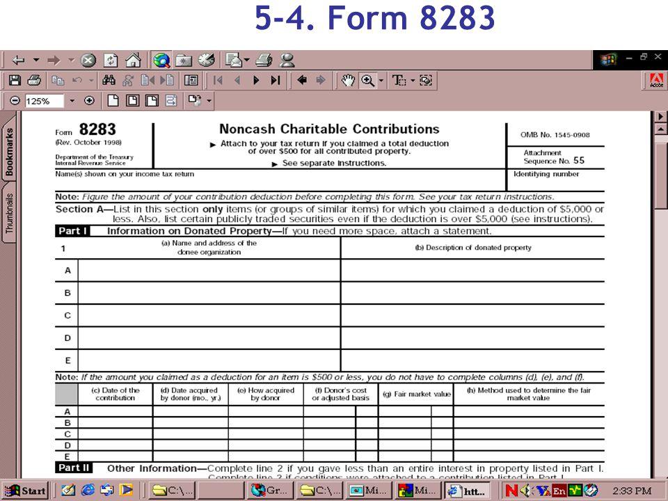 5-4. Form 8283