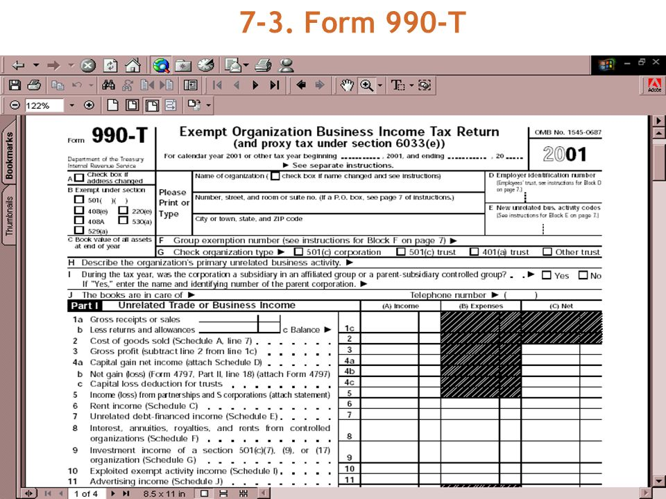 7-3. Form 990-T
