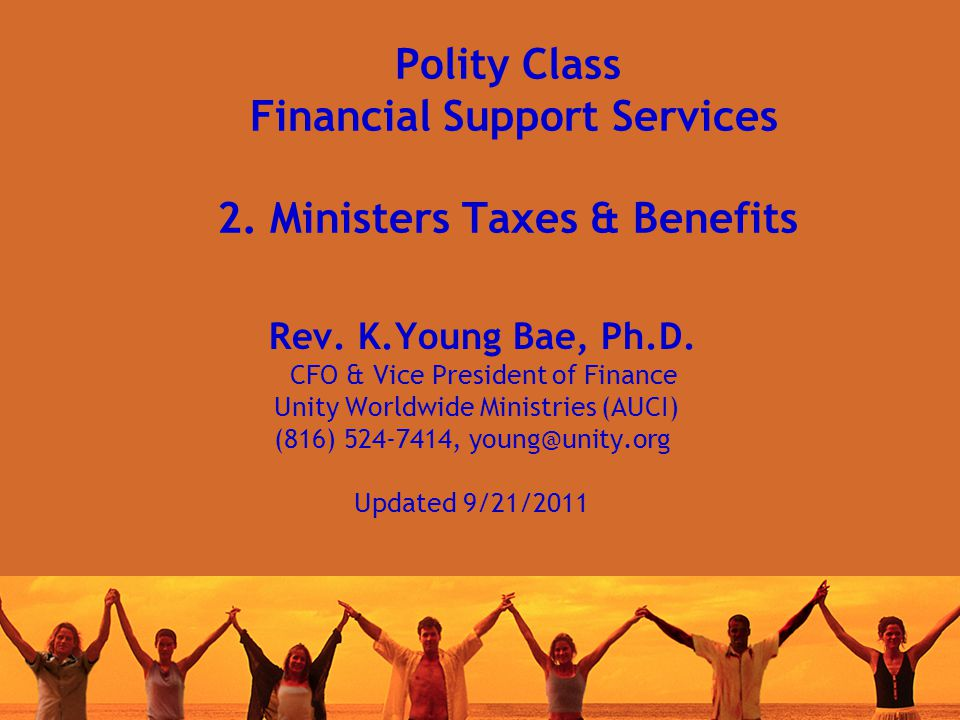 Polity Class Financial Support Services 2. Ministers Taxes & Benefits Rev.