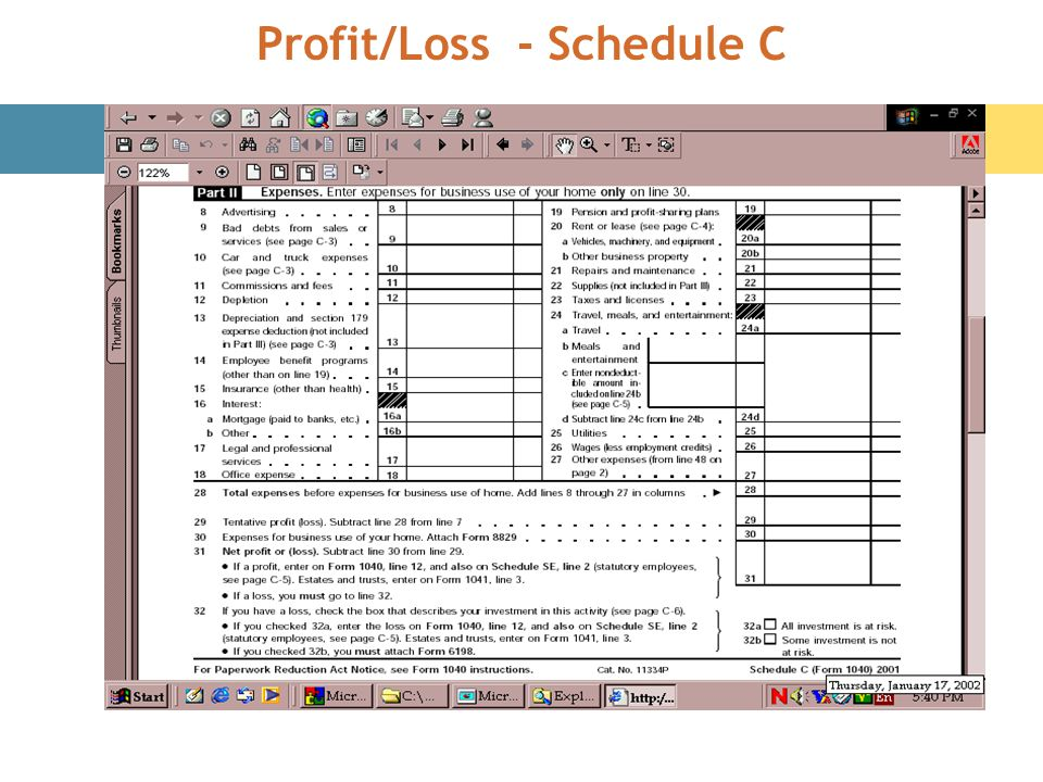 Profit/Loss - Schedule C