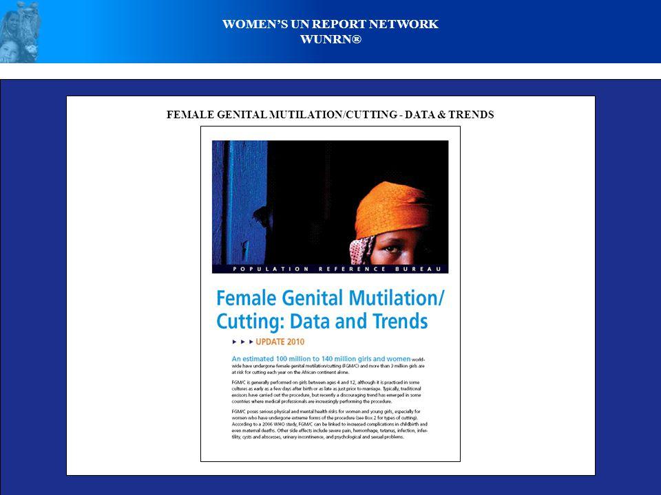 WOMENS UN REPORT NETWORK WUNRN® FEMALE GENITAL MUTILATION/CUTTING - DATA & TRENDS