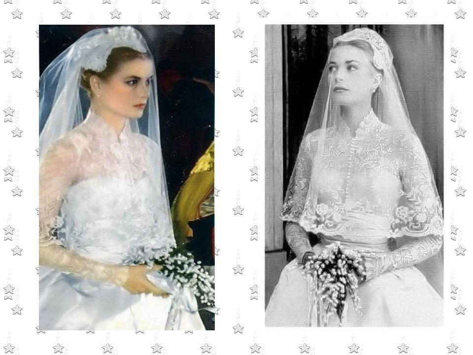 Grace Kelly and Prince Ranier formal portrait in color
