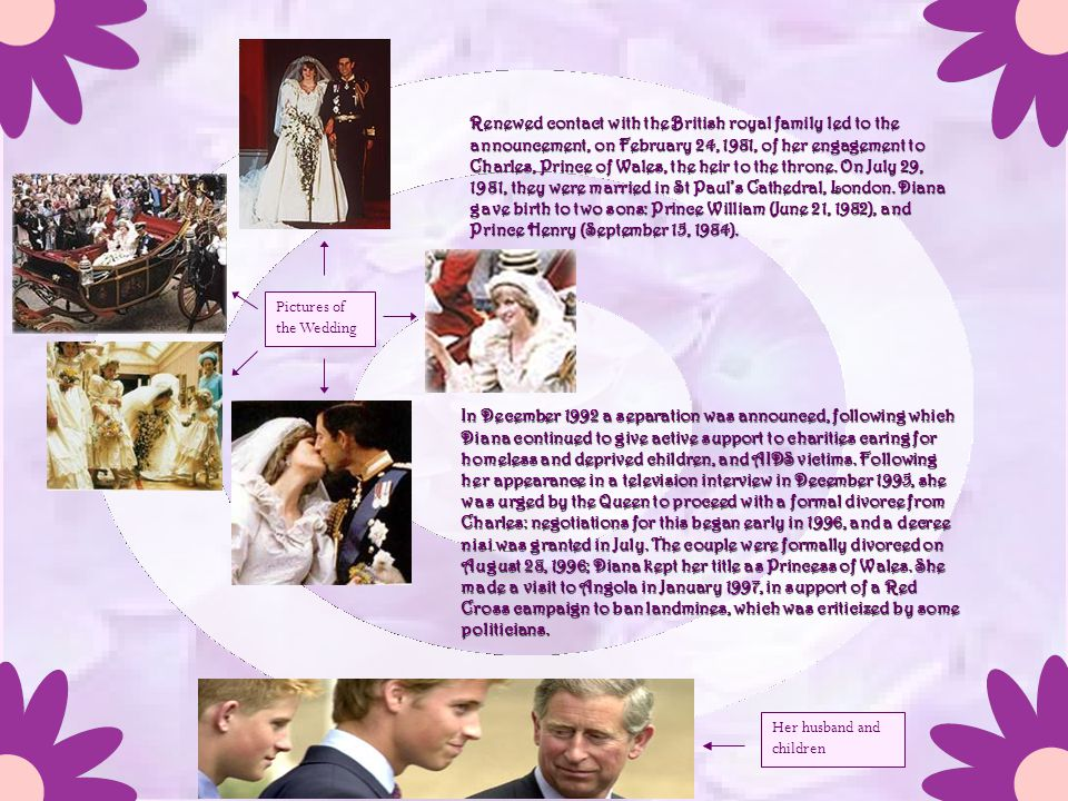 Lady Diana was born Diana Frances Spencer on July 1, 1961, in a rented house on the royal estate at Sandringham, Norfolk. She was educated at Riddlesw
