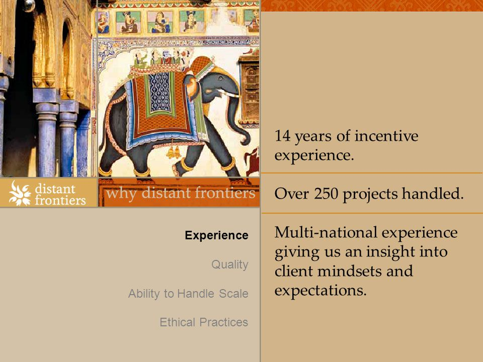 14 years of incentive experience. Over 250 projects handled.