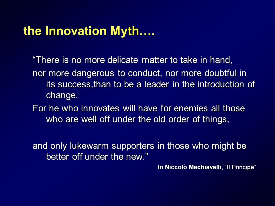 the Innovation Myth….