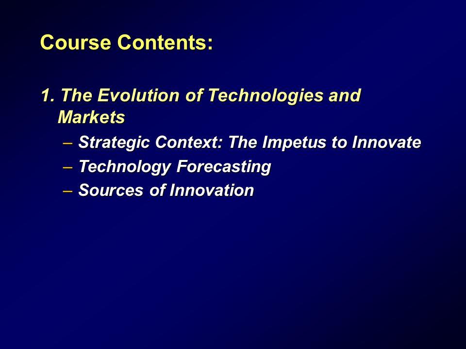 Course Contents: 1.