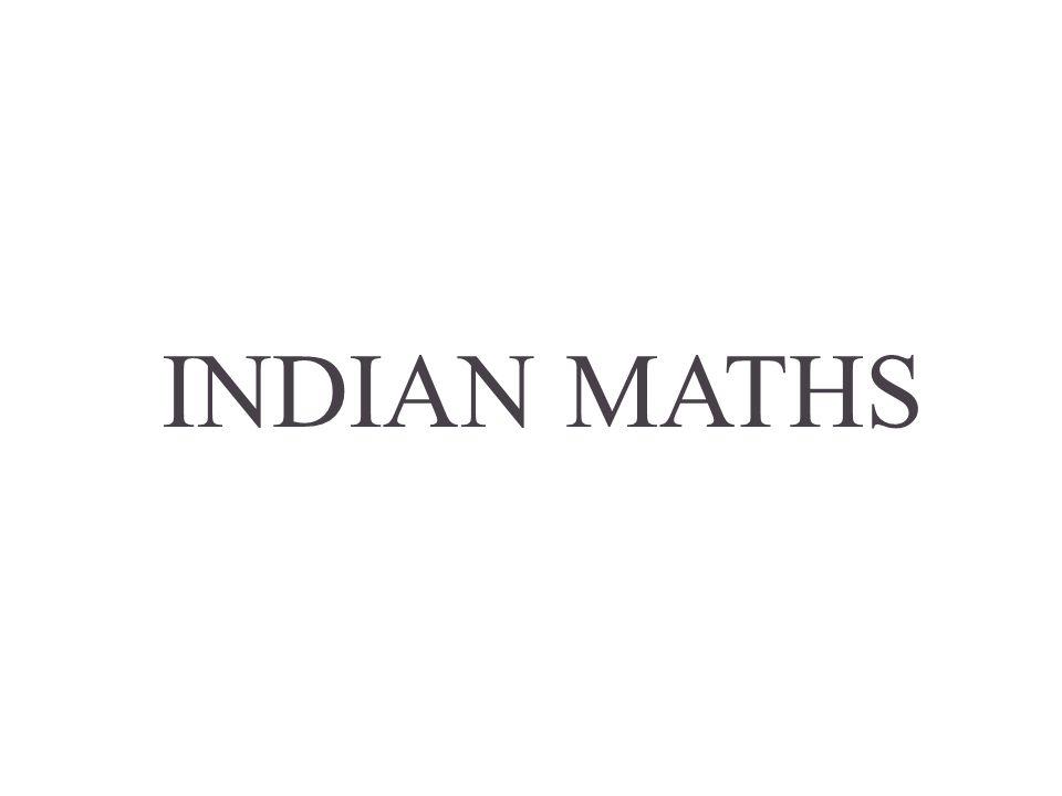 INDIAN MATHS