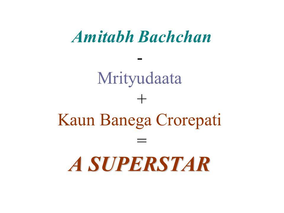 Amitabh Bachchan - Mrityudaata + Kaun Banega Crorepati = A SUPERSTAR