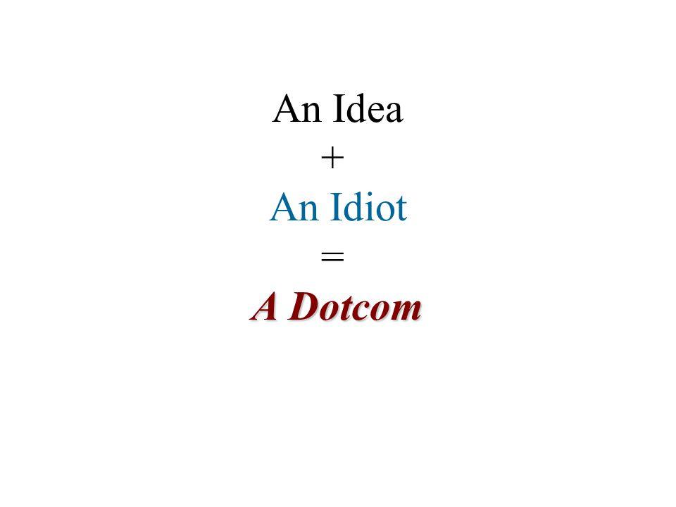An Idea + An Idiot = A Dotcom