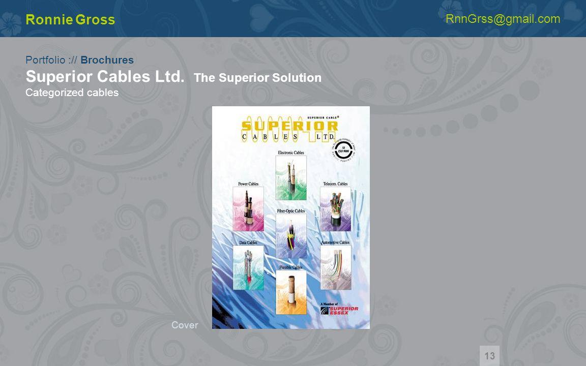 Portfolio :// Brochures Superior Cables Ltd.