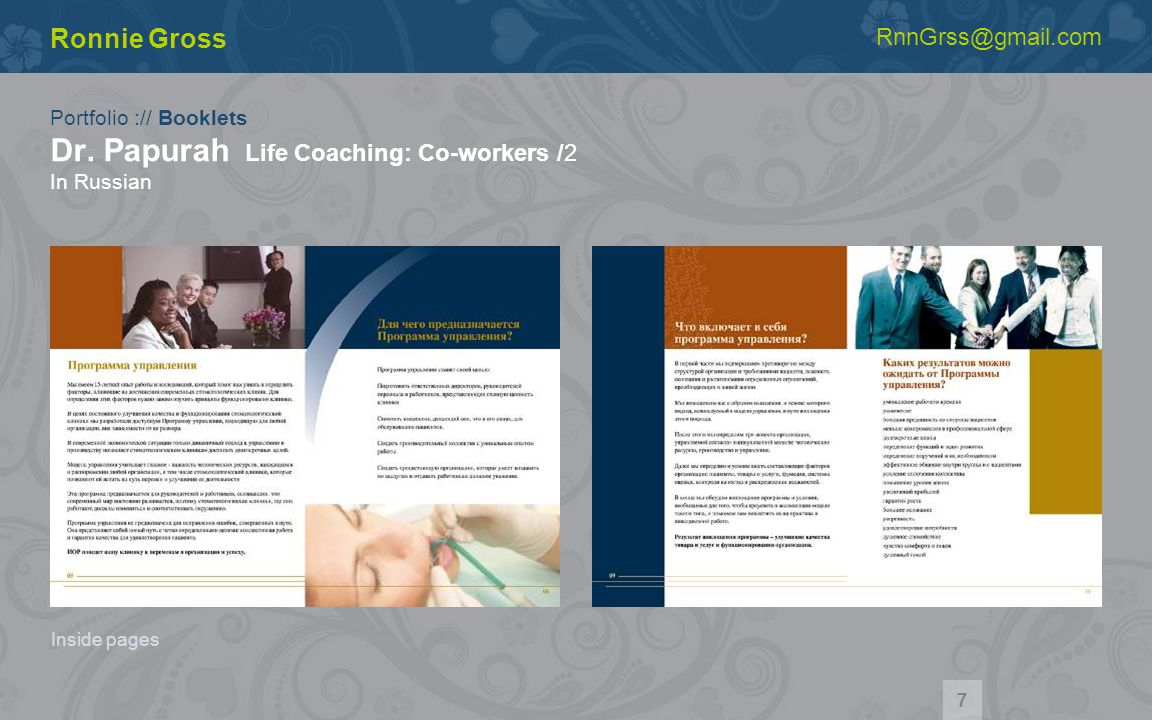 Portfolio :// Booklets Dr.