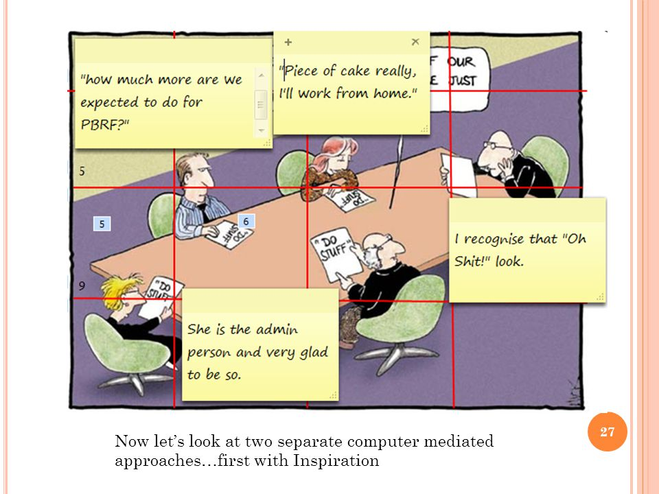 Now lets look at two separate computer mediated approaches…first with Inspiration 27