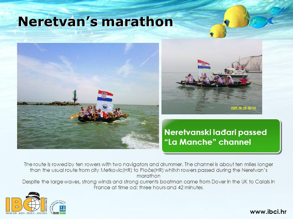 Neretvanski lađari passed La Manche channel Neretvans marathon The route is rowed by ten rowers with two navigators and drummer.