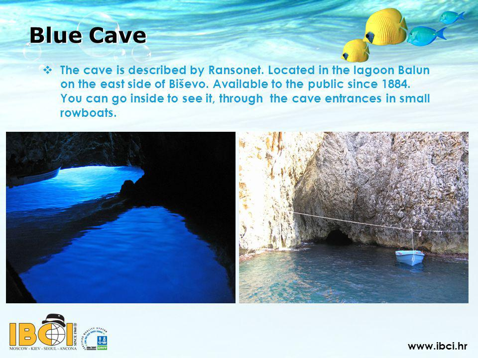 Blue Cave The cave is described by Ransonet.