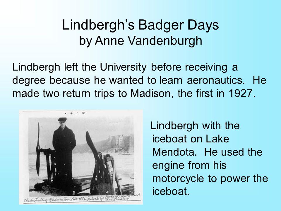 Lindbergh with the iceboat on Lake Mendota.