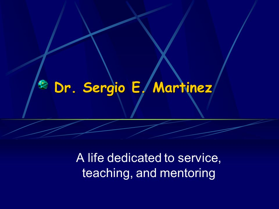 Dr. Martinez to the podium please