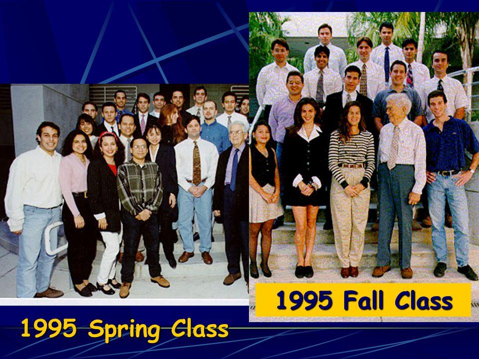 1995 Fall Class 1995 Spring Class
