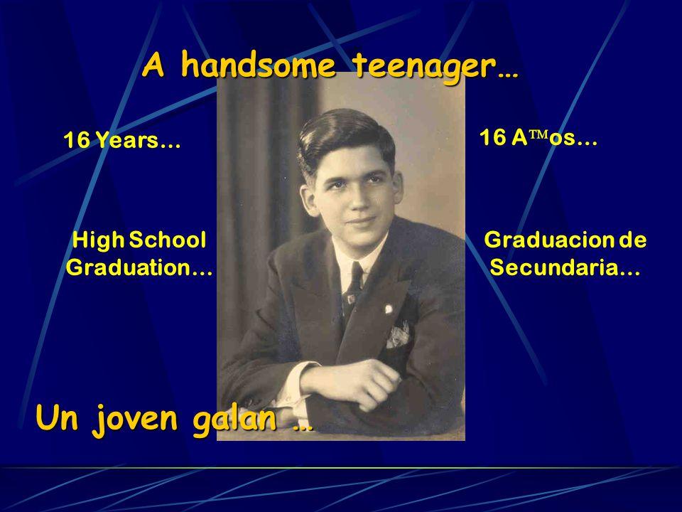 A handsome teenager… 16 Years… High School Graduation… Un joven galan … 16 A os… Graduacion de Secundaria…