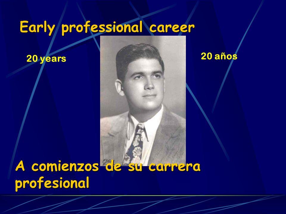 Early professional career 20 years A comienzos de su carrera profesional 20 años