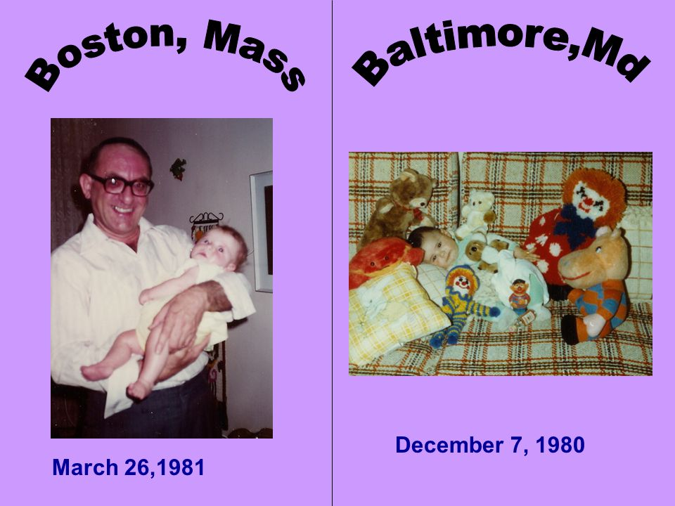 Well, heres one… BALTIMORE So what were the DIFFERENCES.