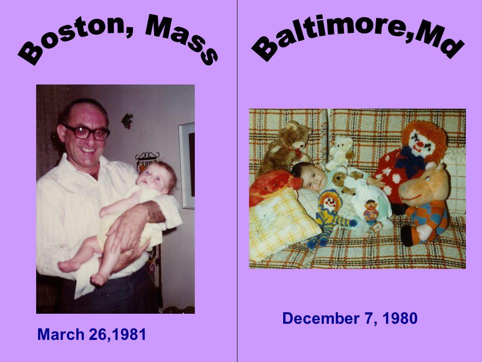 December 7, 1980 March 26,1981