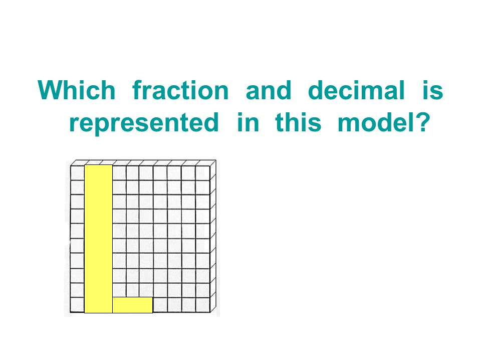 Which fraction and decimal is represented in this model?
