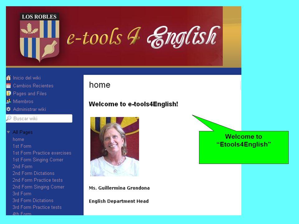 Welcome to Etools4English