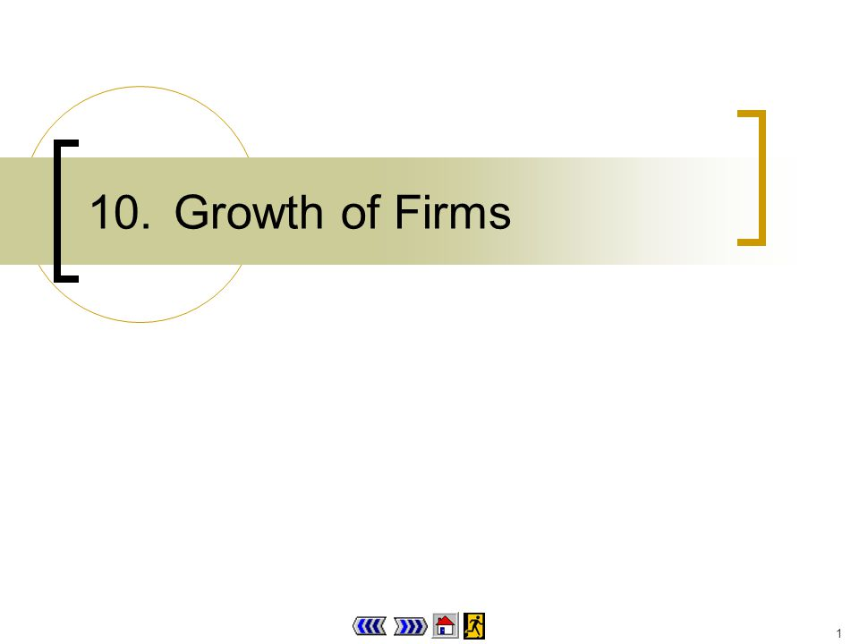 1 10.Growth of Firms