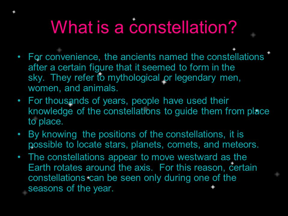 What is a constellation.