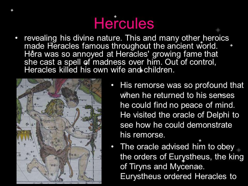 Hercules revealing his divine nature.