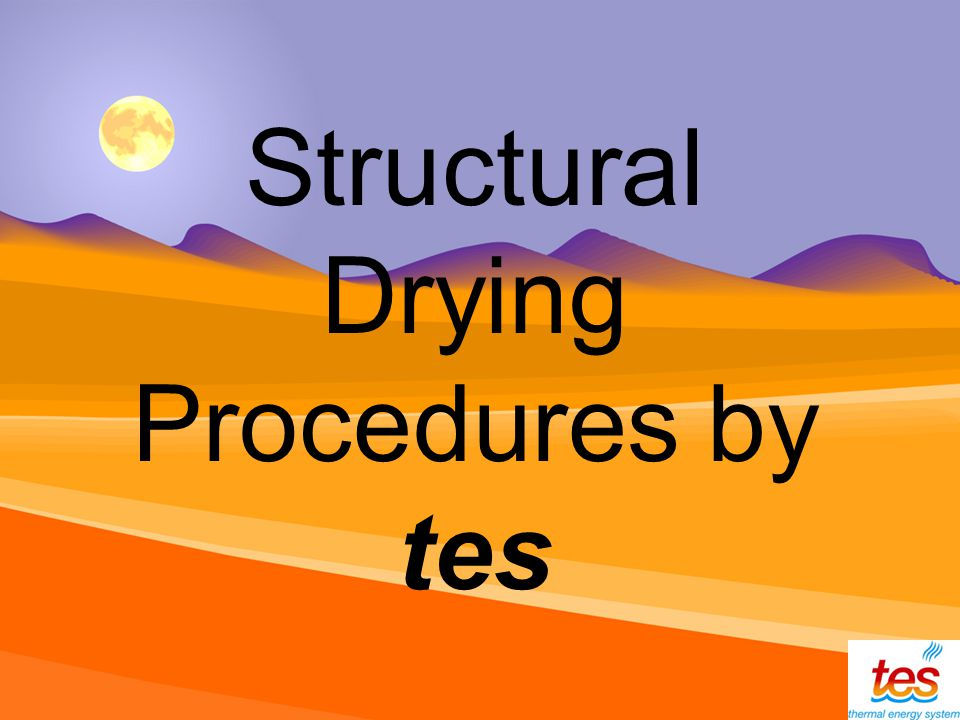 Structural Drying Procedures by tes