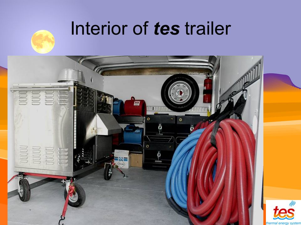 Interior of tes trailer