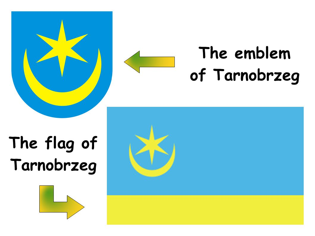 The emblem of Tarnobrzeg The flag of Tarnobrzeg