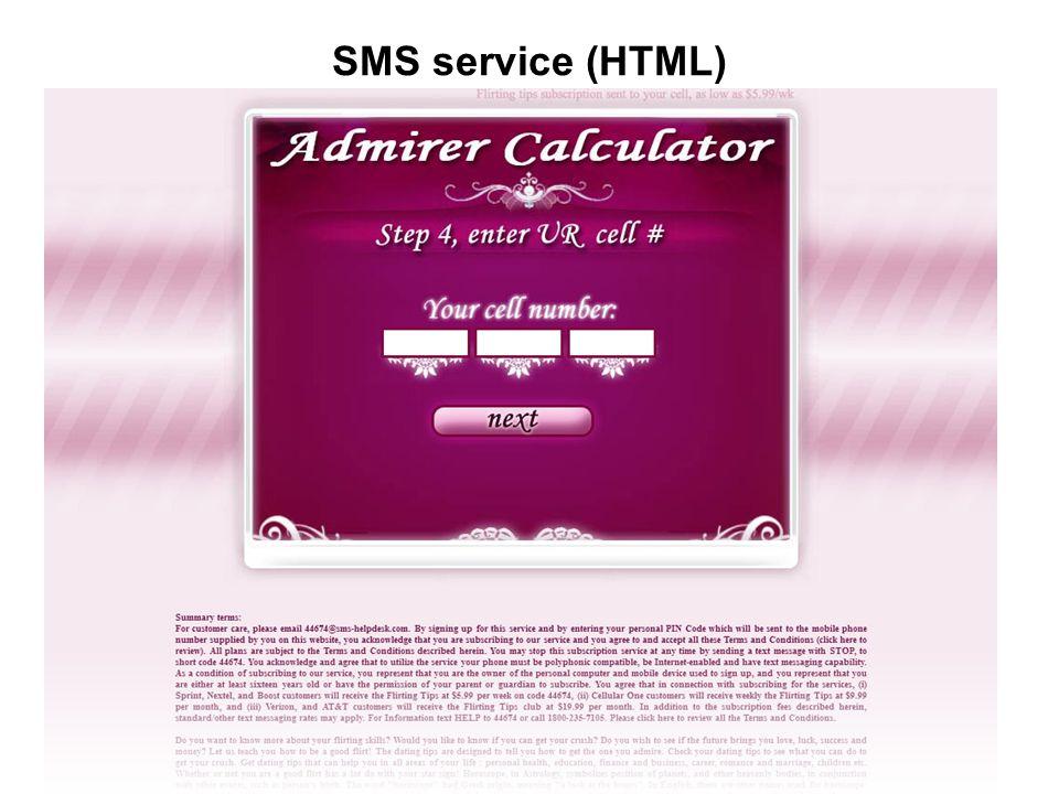 SMS service (HTML)