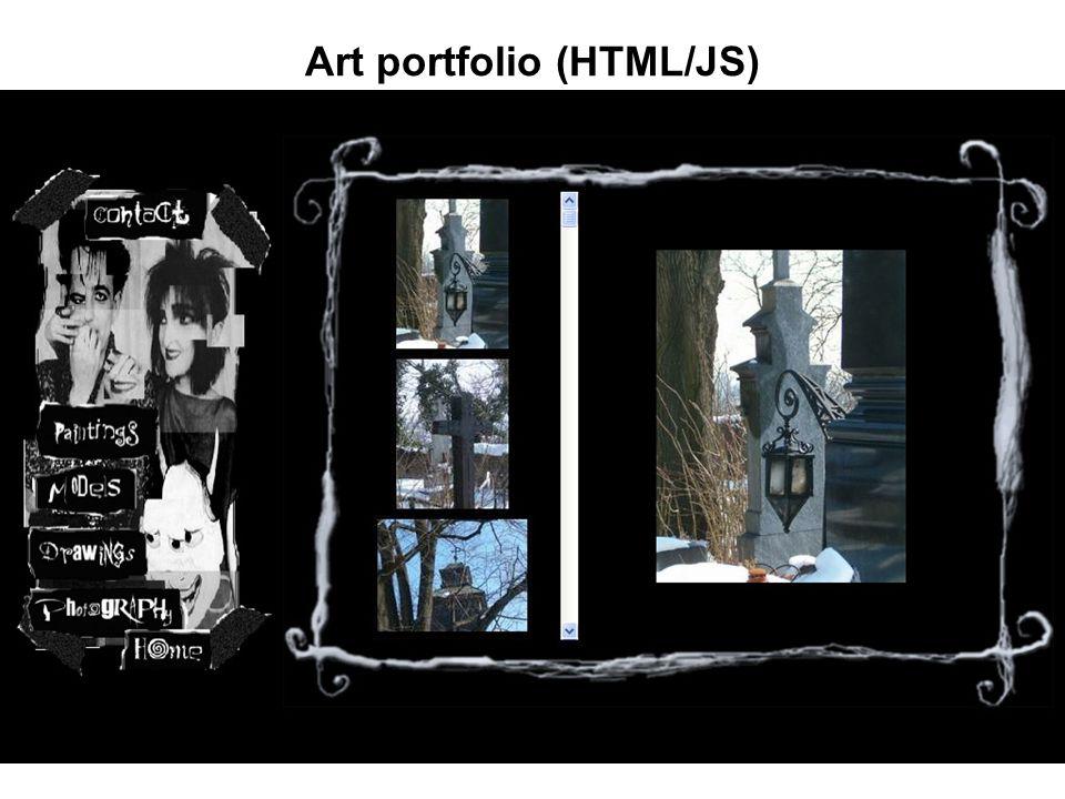 Art portfolio (HTML/JS)