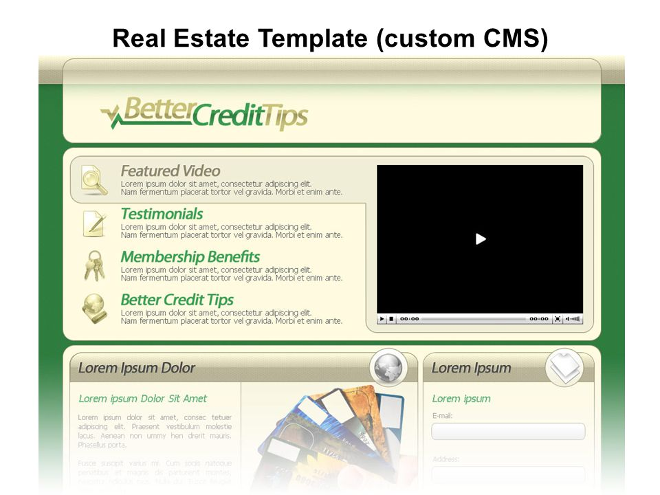 Real Estate Template (custom CMS)