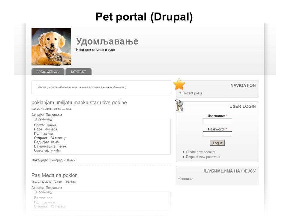 Pet portal (Drupal)